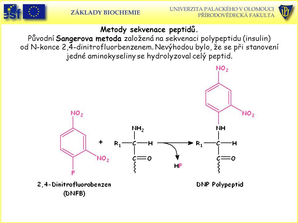 Metody sekvenace peptidů.