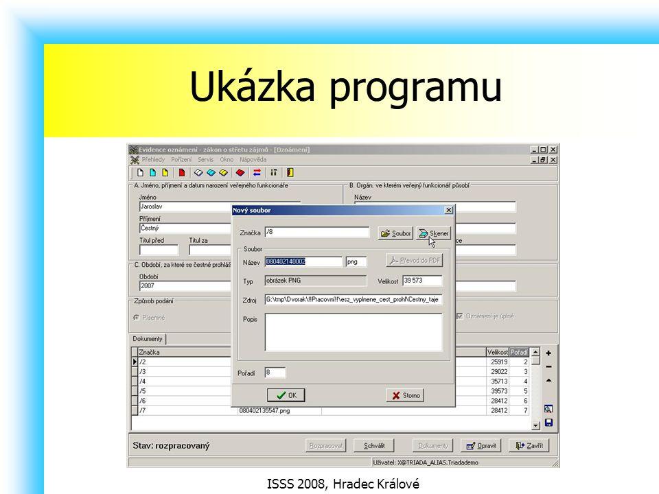 ISSS 2008, Hradec Králové Ukázka programu