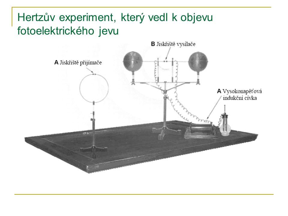 Hertzův experiment, který vedl k objevu fotoelektrického jevu