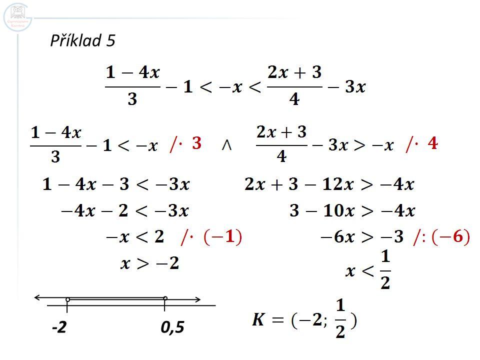 Příklad 5 -20,5