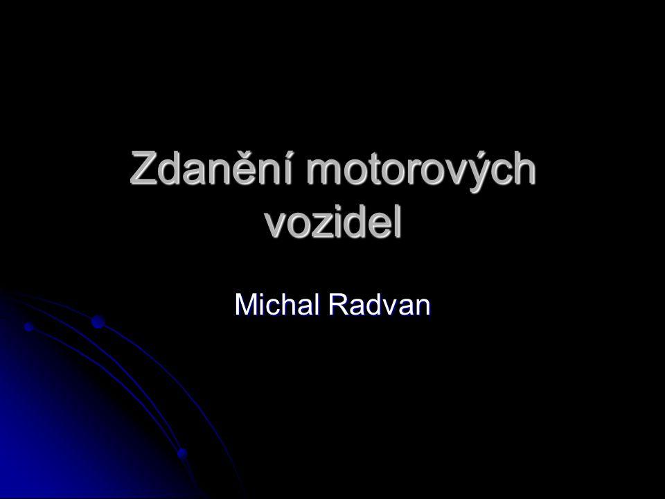 Zdanění motorových vozidel Michal Radvan