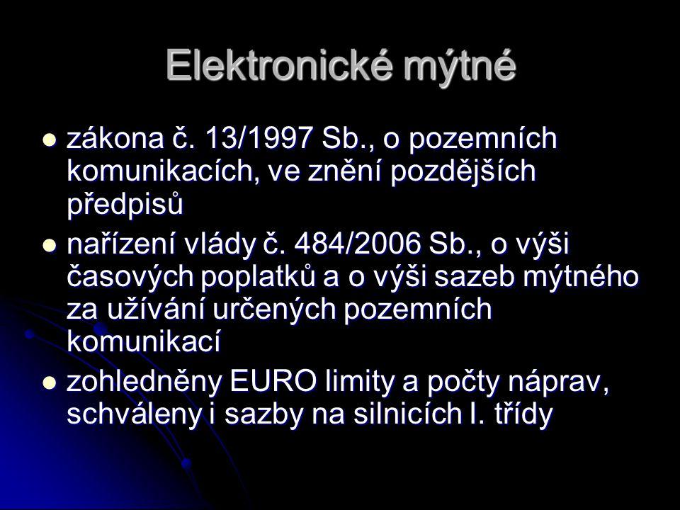 Elektronické mýtné zákona č.