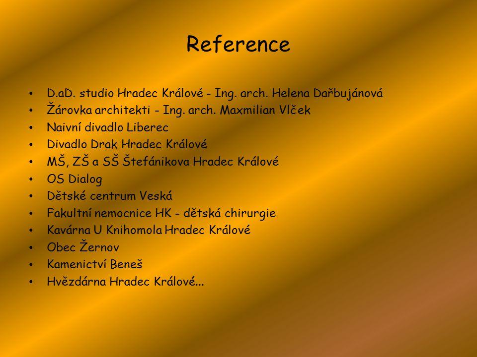 Reference D.aD. studio Hradec Králové - Ing. arch.