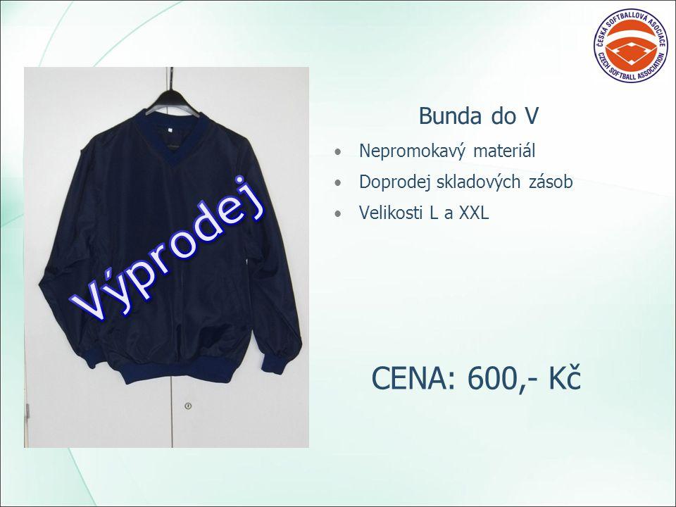 Bunda do V Nepromokavý materiál Doprodej skladových zásob Velikosti L a XXL CENA: 600,- Kč