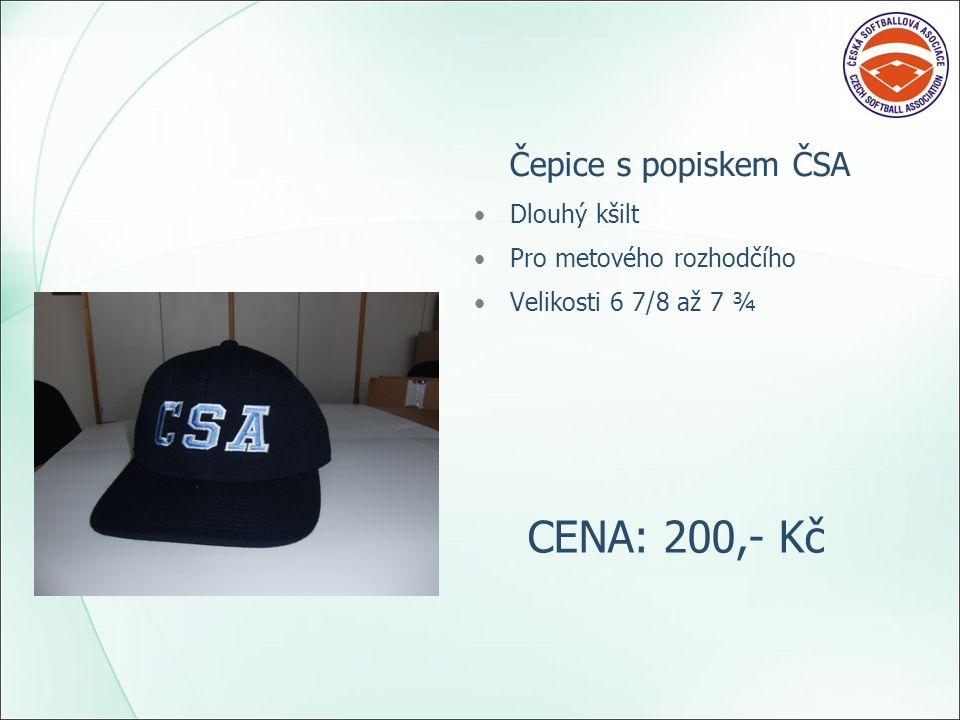 Čepice s popiskem ČSA Dlouhý kšilt Pro metového rozhodčího Velikosti 6 7/8 až 7 ¾ CENA: 200,- Kč
