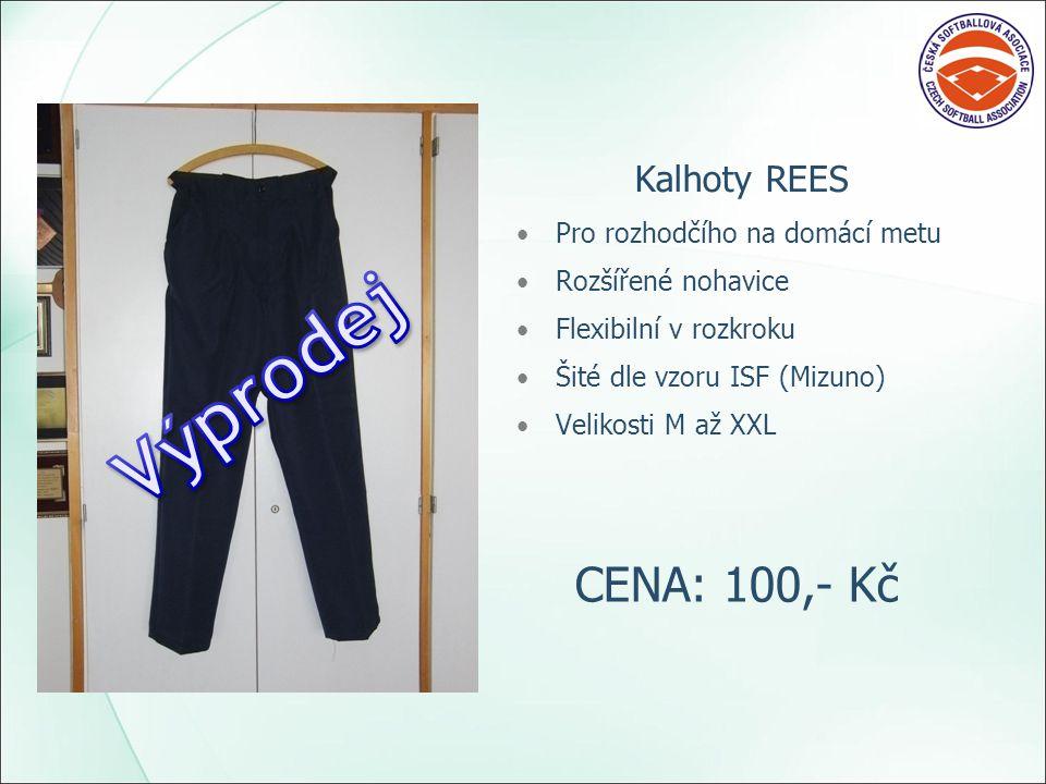 Kalhoty REES Pro rozhodčího na domácí metu Rozšířené nohavice Flexibilní v rozkroku Šité dle vzoru ISF (Mizuno) Velikosti M až XXL CENA: 100,- Kč