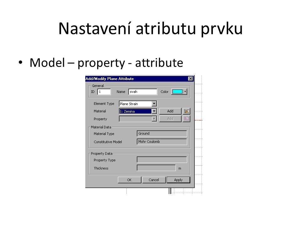 Nastavení atributu prvku Model – property - attribute