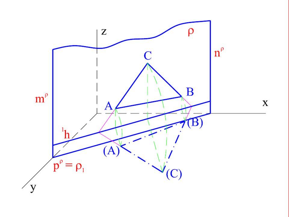Je dána rovina  kolmá k půdorysně.V rovině  leží trojúhelník ABC.