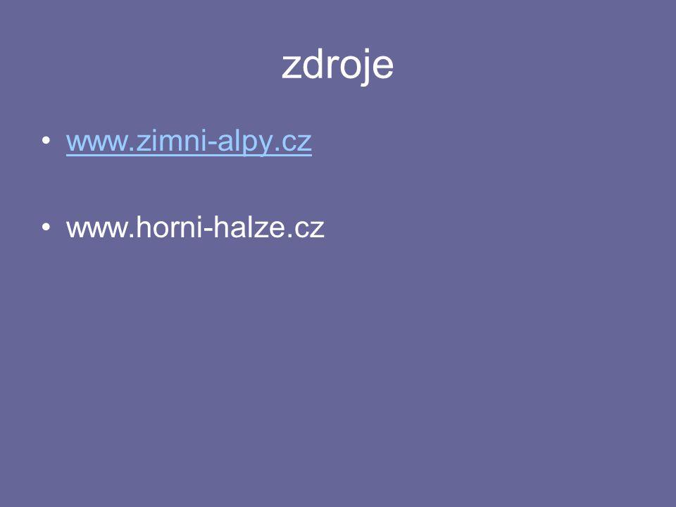 zdroje www.zimni-alpy.cz www.horni-halze.cz