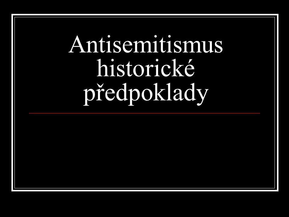 Antisemitismus historické předpoklady