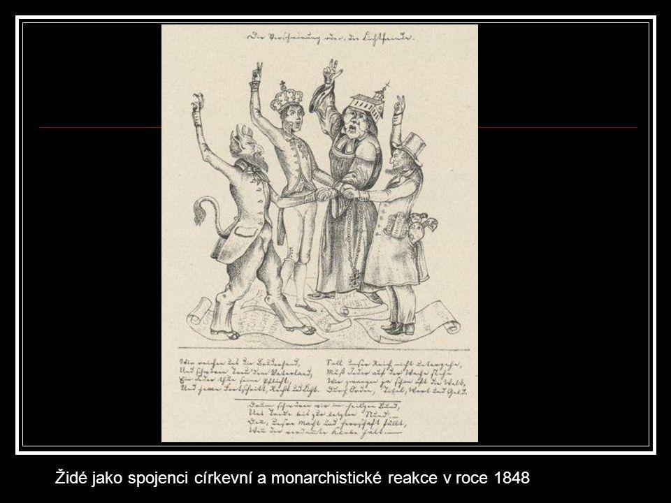 Židé jako spojenci církevní a monarchistické reakce v roce 1848