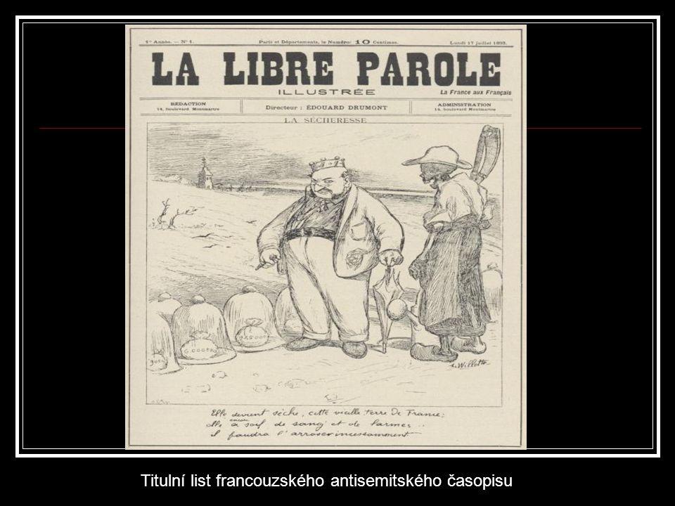 Titulní list francouzského antisemitského časopisu