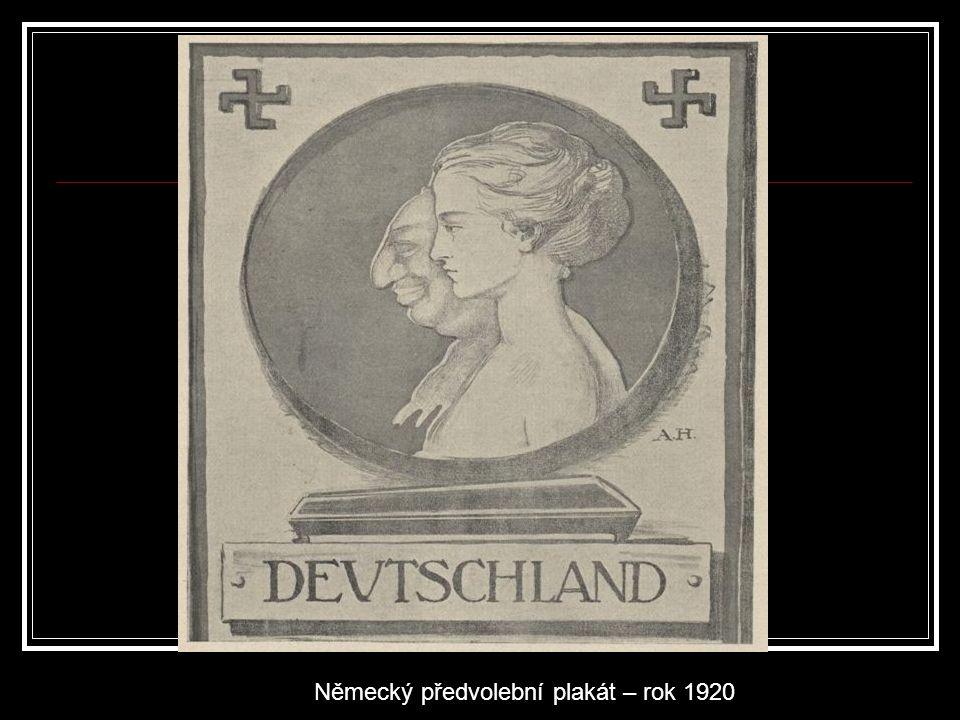 Německý předvolební plakát – rok 1920