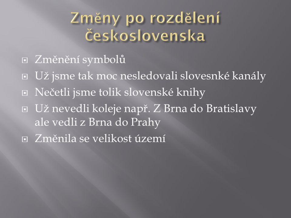 Změnění symbolů  Už jsme tak moc nesledovali slovesnké kanály  Nečetli jsme tolik slovenské knihy  Už nevedli koleje např.