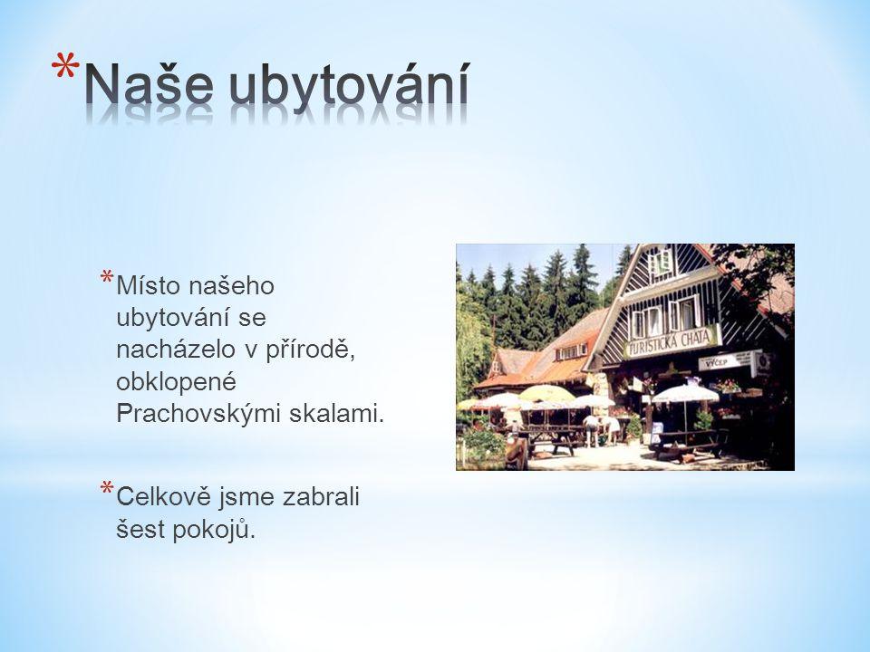 * Místo našeho ubytování se nacházelo v přírodě, obklopené Prachovskými skalami.