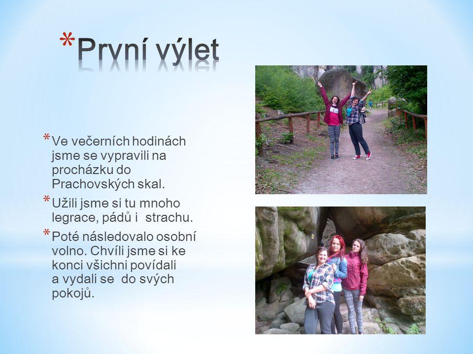 * Ve večerních hodinách jsme se vypravili na procházku do Prachovských skal.