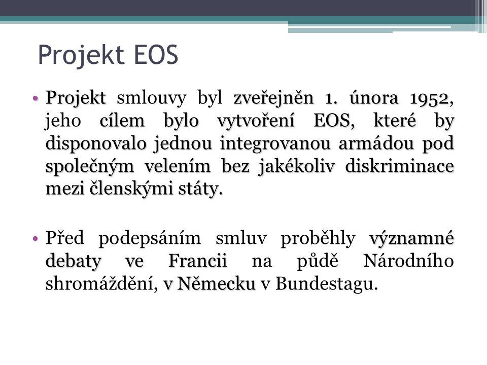 Situace po vytvoření aplikačního protokolu pro EOS Stoupenci Smlouvy o EOS viděli v protokolu ztrátu podstaty celé této smlouvy Odpůrcům se zdály úpravy nedostatečné 19.