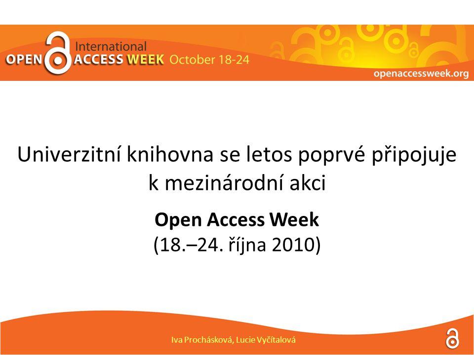 Univerzitní knihovna se letos poprvé připojuje k mezinárodní akci Open Access Week (18.–24.