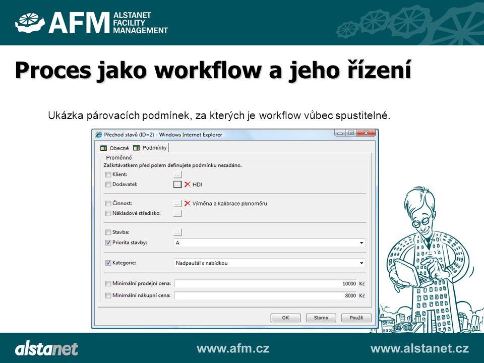 Ukázka párovacích podmínek, za kterých je workflow vůbec spustitelné. Proces jako workflow a jeho řízení