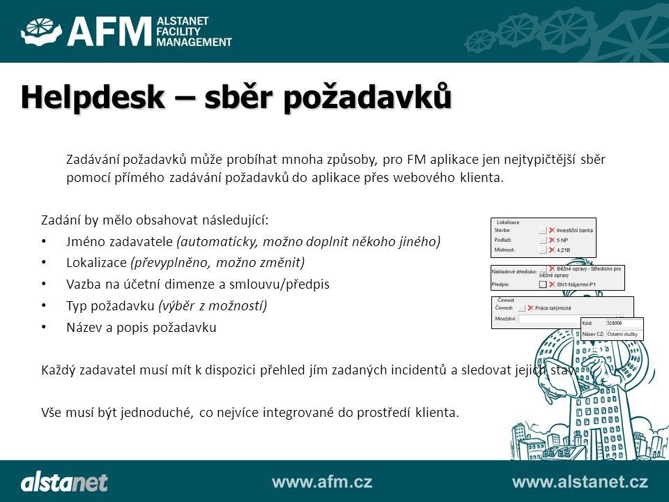 Zadávání požadavků může probíhat mnoha způsoby, pro FM aplikace jen nejtypičtější sběr pomocí přímého zadávání požadavků do aplikace přes webového kli