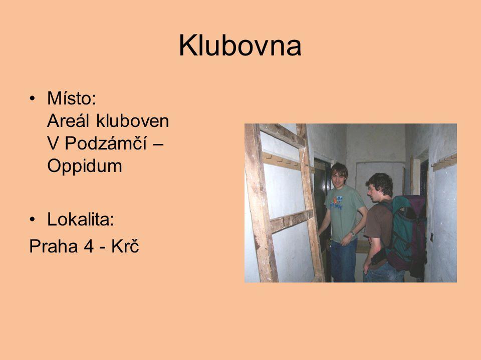Klubovna Místo: Areál kluboven V Podzámčí – Oppidum Lokalita: Praha 4 - Krč