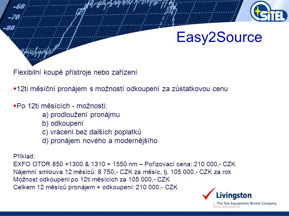 Easy2Source Flexibilní koupě přístroje nebo zařízení  12ti měsíční pronájem s možností odkoupení za zůstatkovou cenu  Po 12ti měsících - možnosti: a