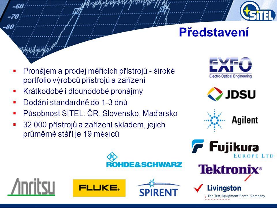 Představení  Pronájem a prodej měřicích přístrojů - široké portfolio výrobců přístrojů a zařízení  Krátkodobé i dlouhodobé pronájmy  Dodání standar