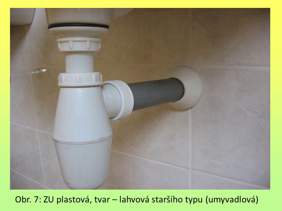 Obr. 7: ZU plastová, tvar – lahvová staršího typu (umyvadlová)