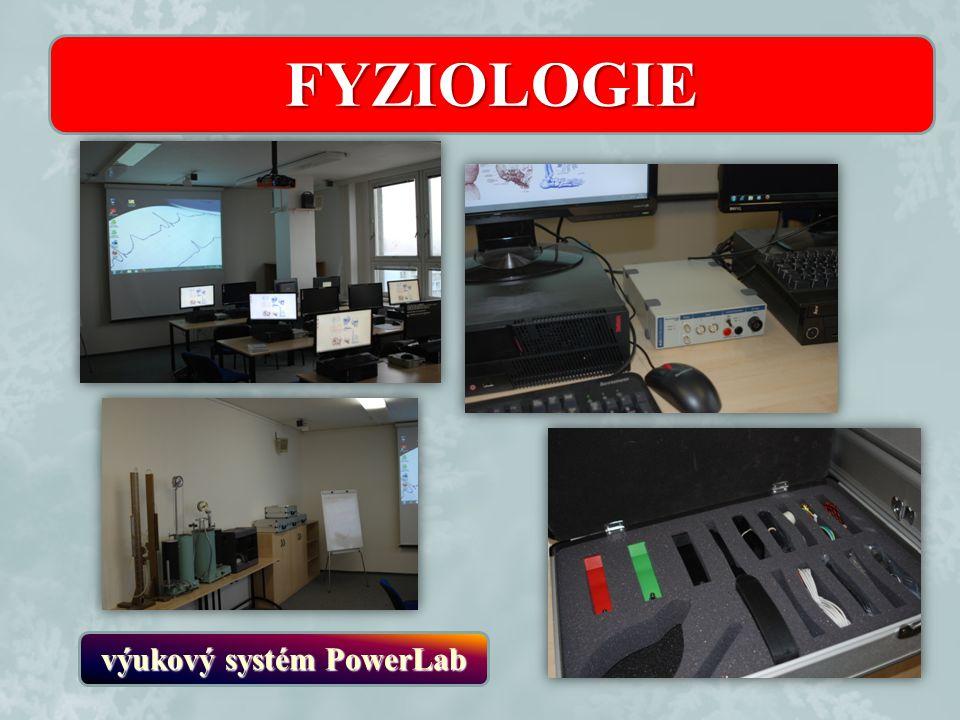 FYZIOLOGIE výukový systém PowerLab