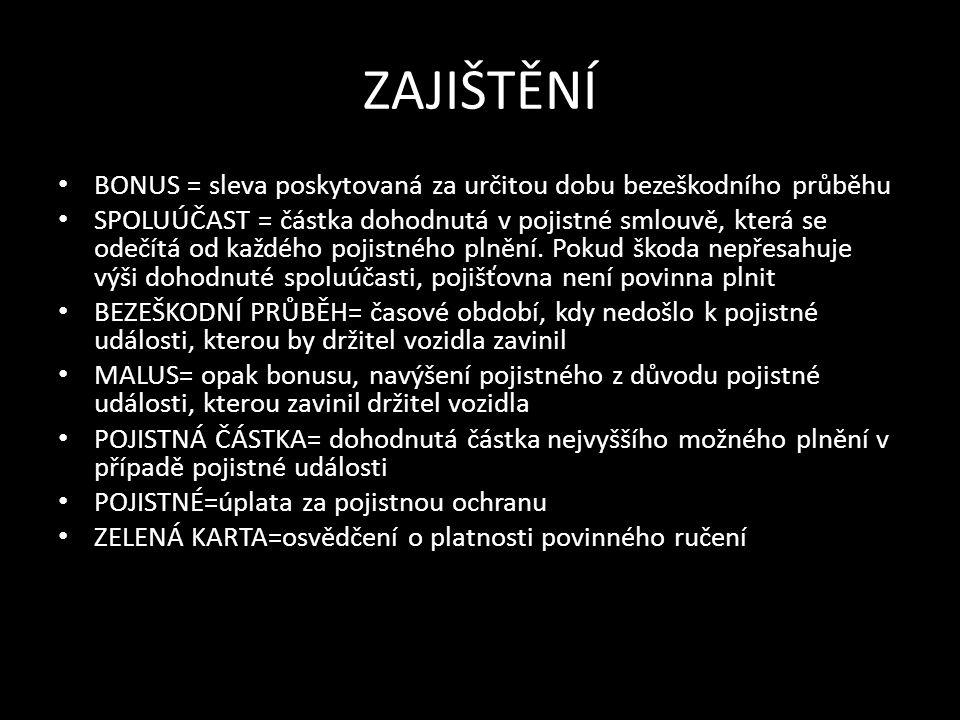 Zdroje: www.penize.cz www.mesec.cz vlastní text