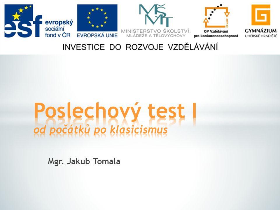 Mgr. Jakub Tomala