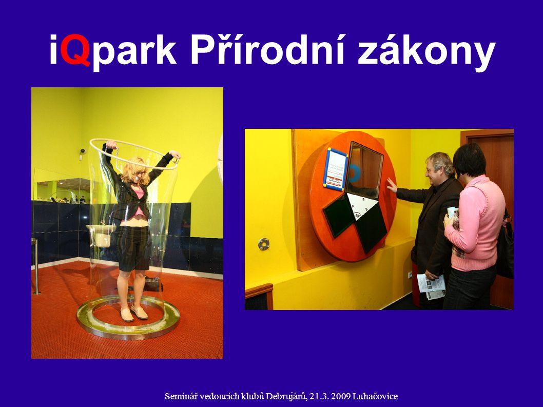 Seminář vedoucích klubů Debrujárů, 21.3. 2009 Luhačovice iQpark Přírodní zákony