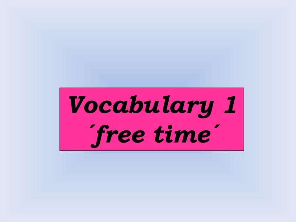 Vocabulary 2 ´verbs´