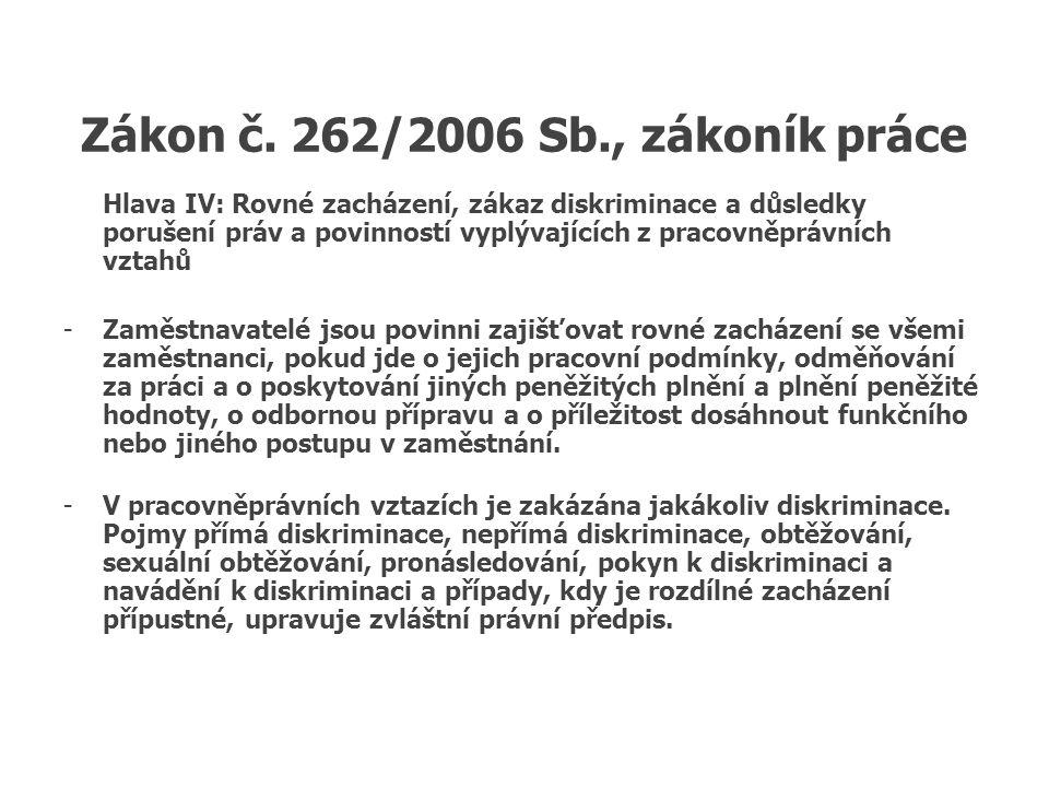 Antidiskriminační právo EU čl.12 a 13 Amsterodamské smlouvy.