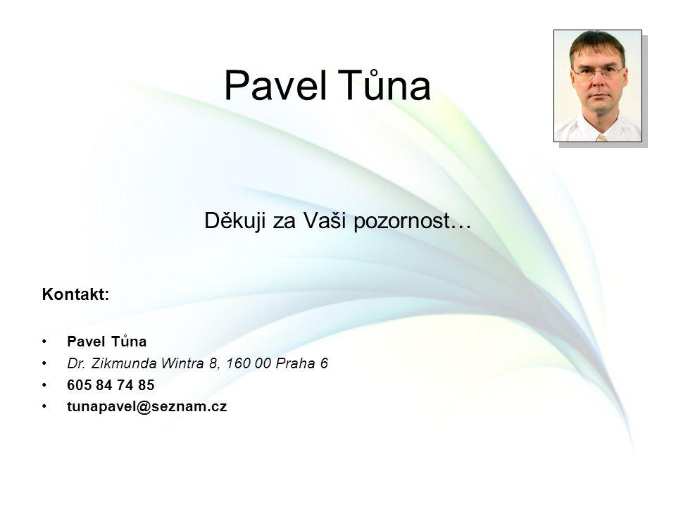 Děkuji za Vaši pozornost… Pavel Tůna Kontakt: Pavel Tůna Dr. Zikmunda Wintra 8, 160 00 Praha 6 605 84 74 85 tunapavel@seznam.cz