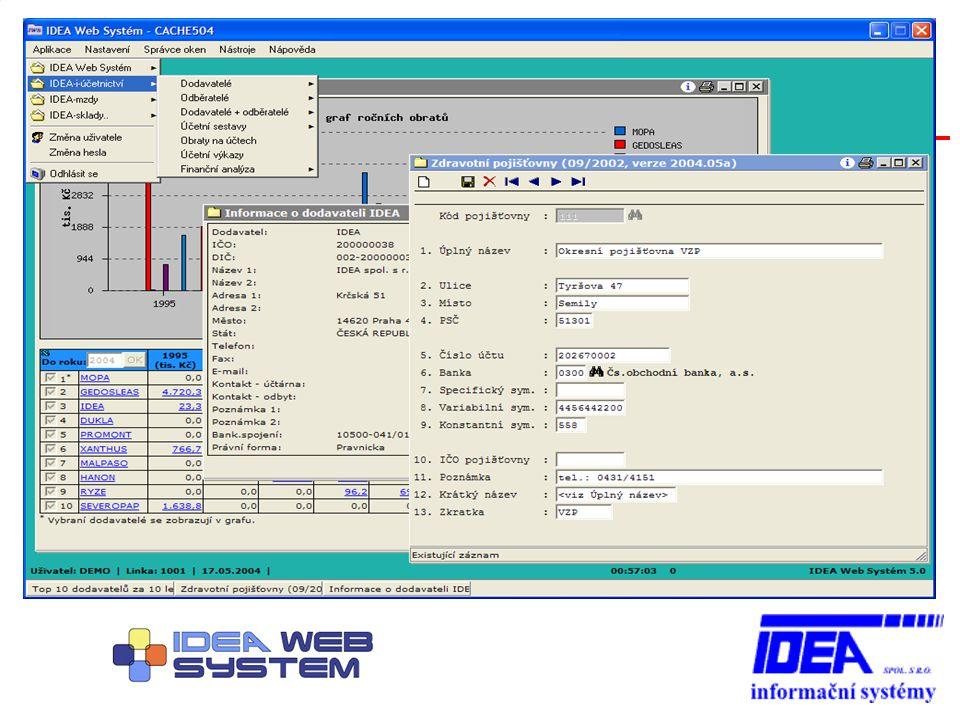 Vztah IWS a IDEA-systému IWS je rozšířením IDEA-systému – využívá veškeré stávající prostředky a nástroje IWS poskytuje mnohé výhody – grafické zobrazení – intuitivní ovládání – práce ve více programech současně