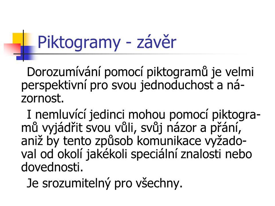 Piktogramy – nácvik a využití