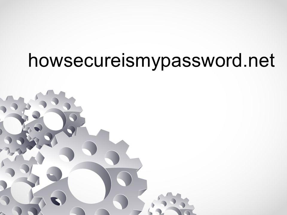 howsecureismypassword.net