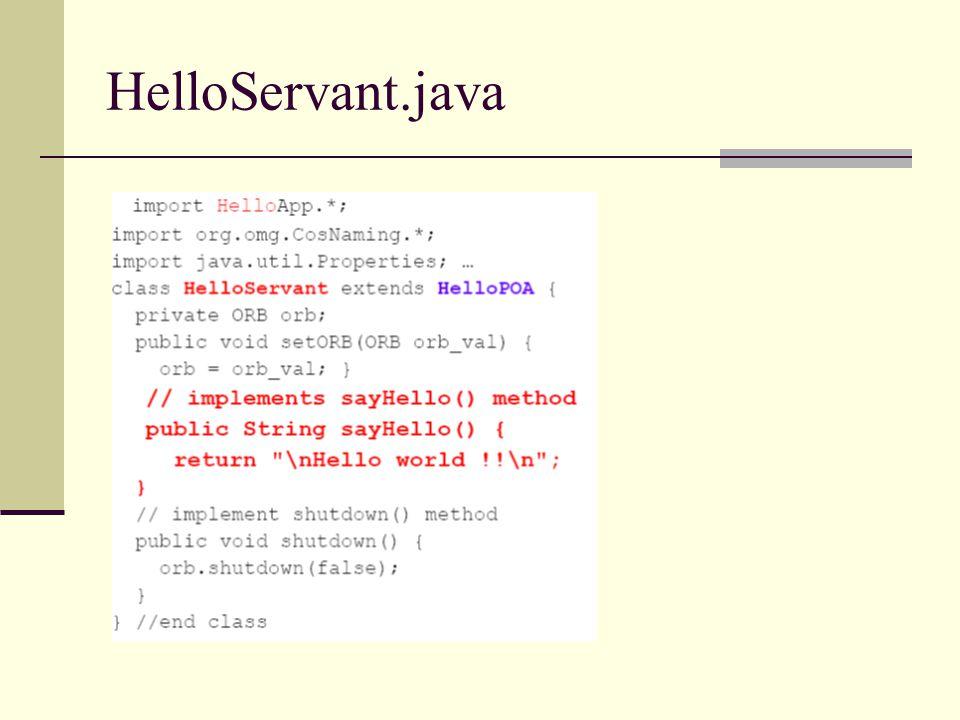 HelloServant.java