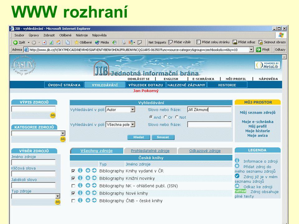 WWW rozhraní
