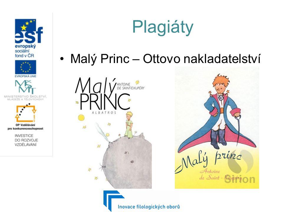 Plagiáty Malý Princ – Ottovo nakladatelství