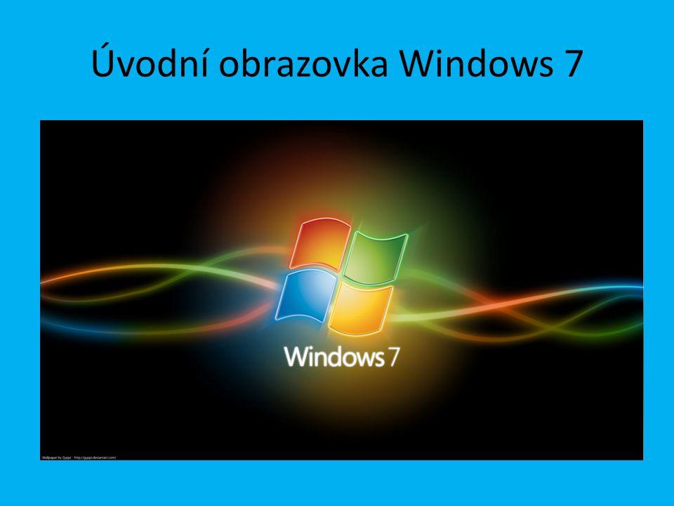 Úvodní obrazovka Windows 7