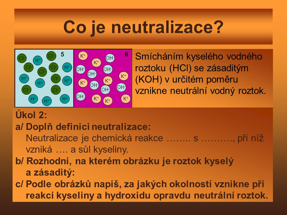 Co je neutralizace.