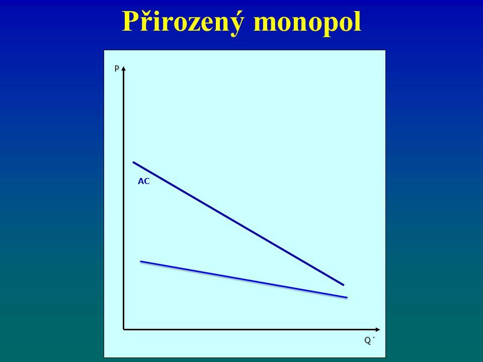 Přirozený monopol AC P Q´