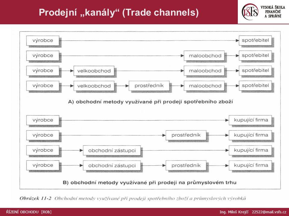 """4.4. Prodejní """"kanály"""" (Trade channels) ŘÍZENÍ OBCHODU [ROb] Ing. Miloš Krejčí 22522@mail.vsfs.cz"""