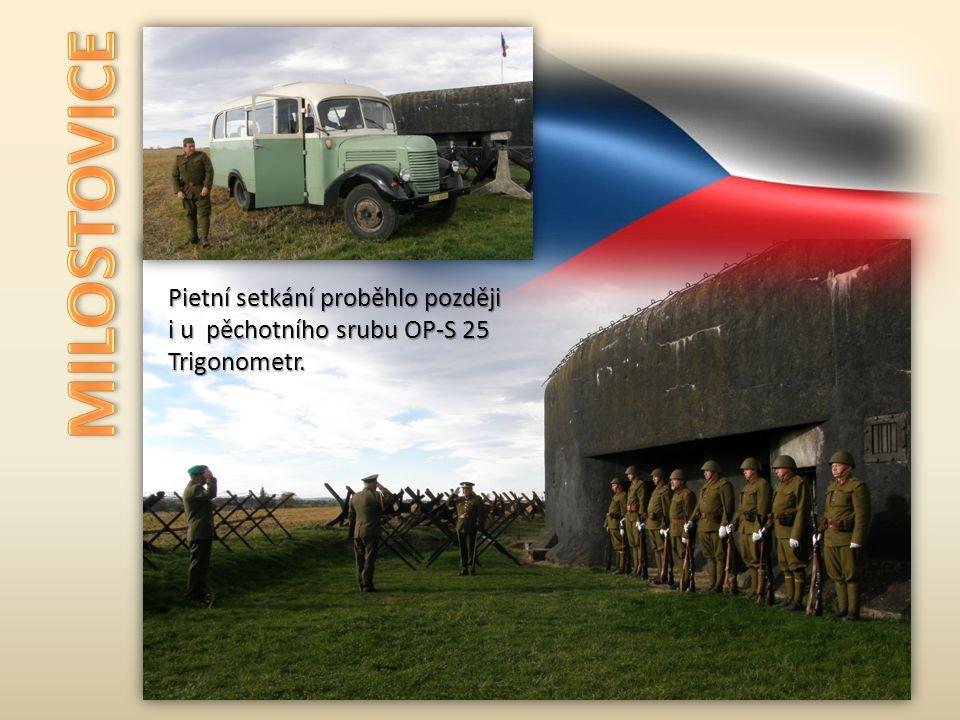 Pietní setkání proběhlo později i u pěchotního srubu OP-S 25 Trigonometr.