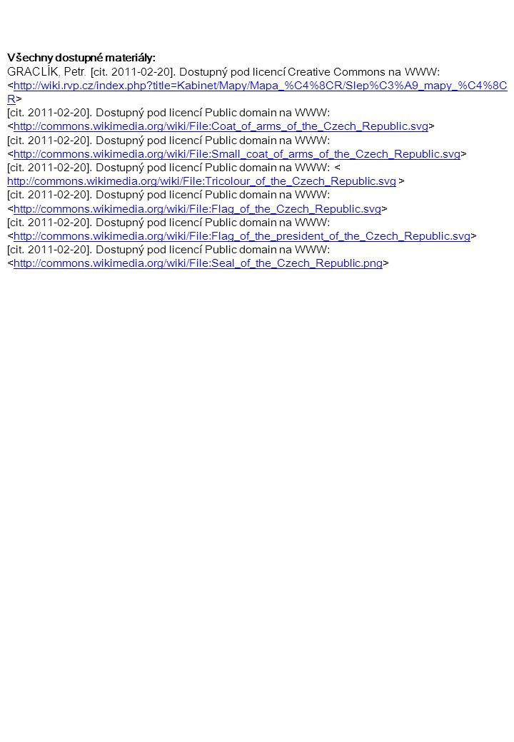 Všechny dostupné materiály: GRACLÍK, Petr. [cit. 2011-02-20]. Dostupný pod licencí Creative Commons na WWW: http://wiki.rvp.cz/index.php?title=Kabinet