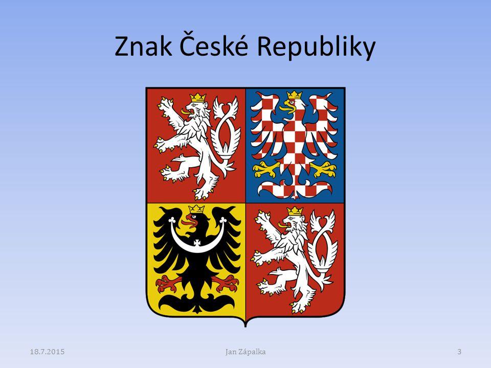 Znak České Republiky 18.7.2015Jan Zápalka3