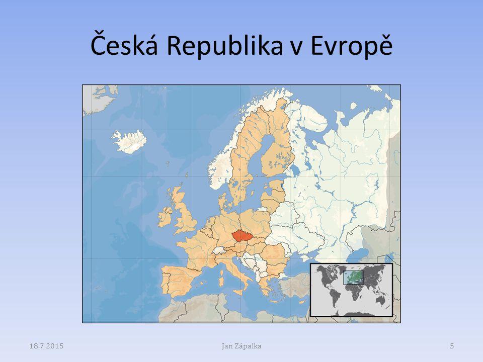 Česká Republika v Evropě 18.7.2015Jan Zápalka5