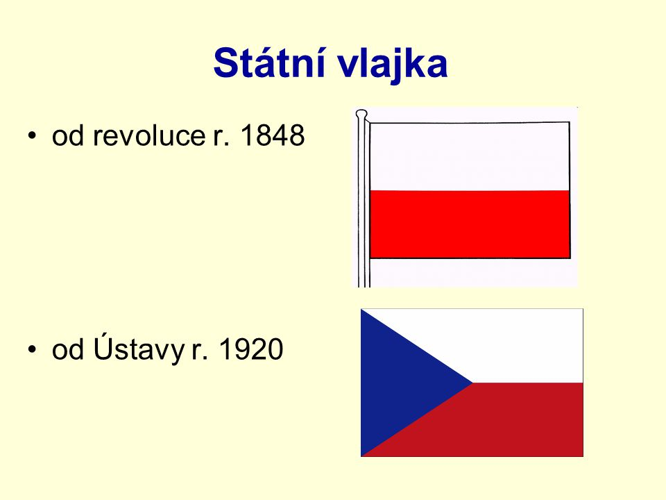 Vlajka prezidenta republiky standarta Popište standartu prezidenta republiky.